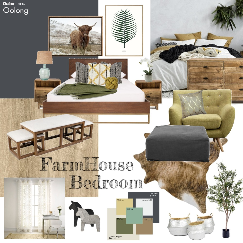 FarmerHouse Bedroom Mood Board by 3D Home Impressions on Style Sourcebook