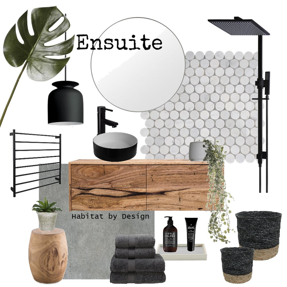 Ensuite Interior Design Mood Board by Habitat_by_Design on Style Sourcebook