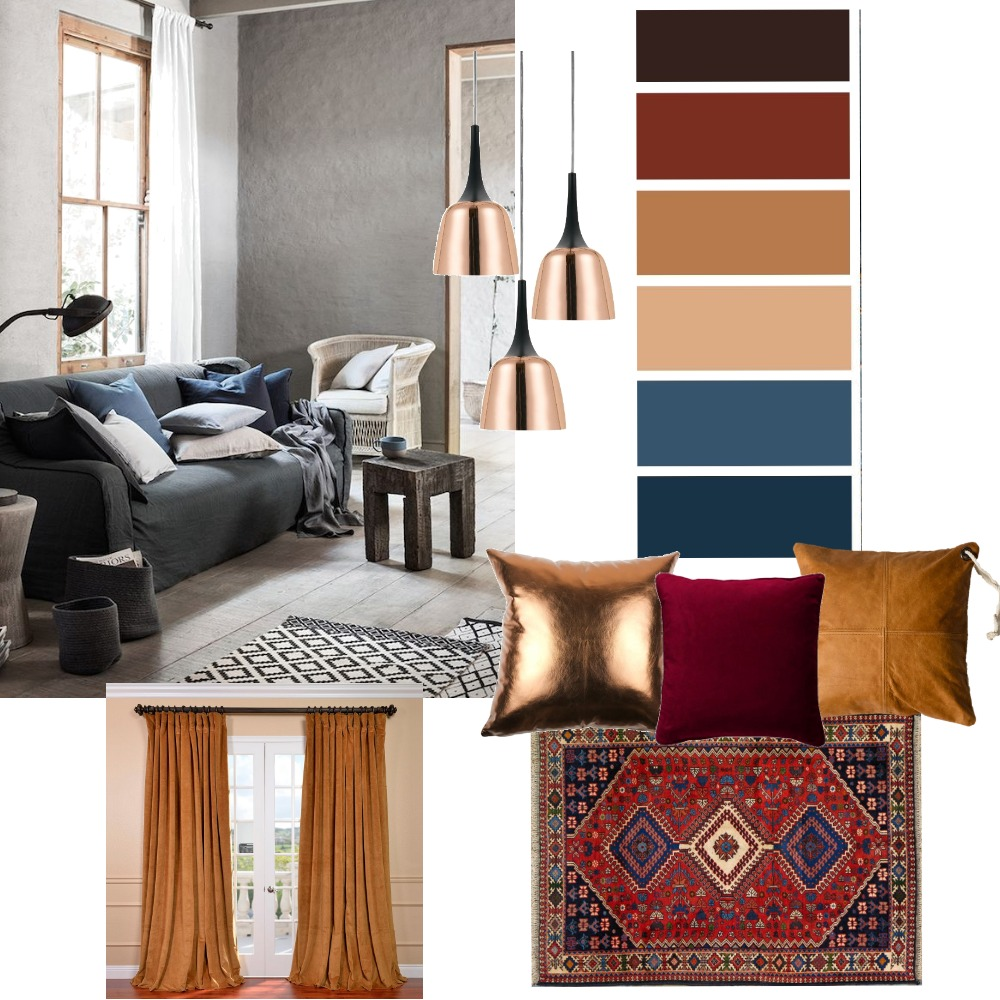 Cold to Warm Mood Board by EileenL on Style Sourcebook