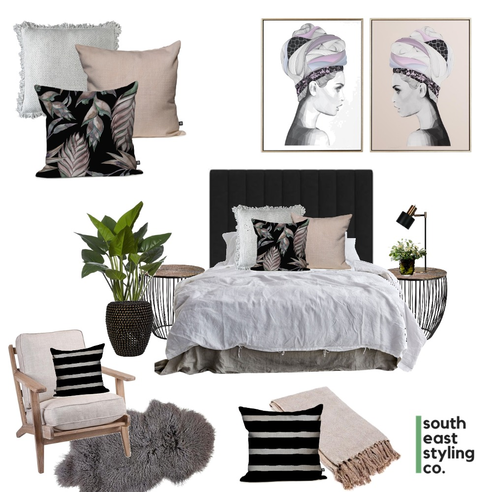 Bedroom Styling 1 Interior Design Mood Board by South East Styling Co.  on Style Sourcebook