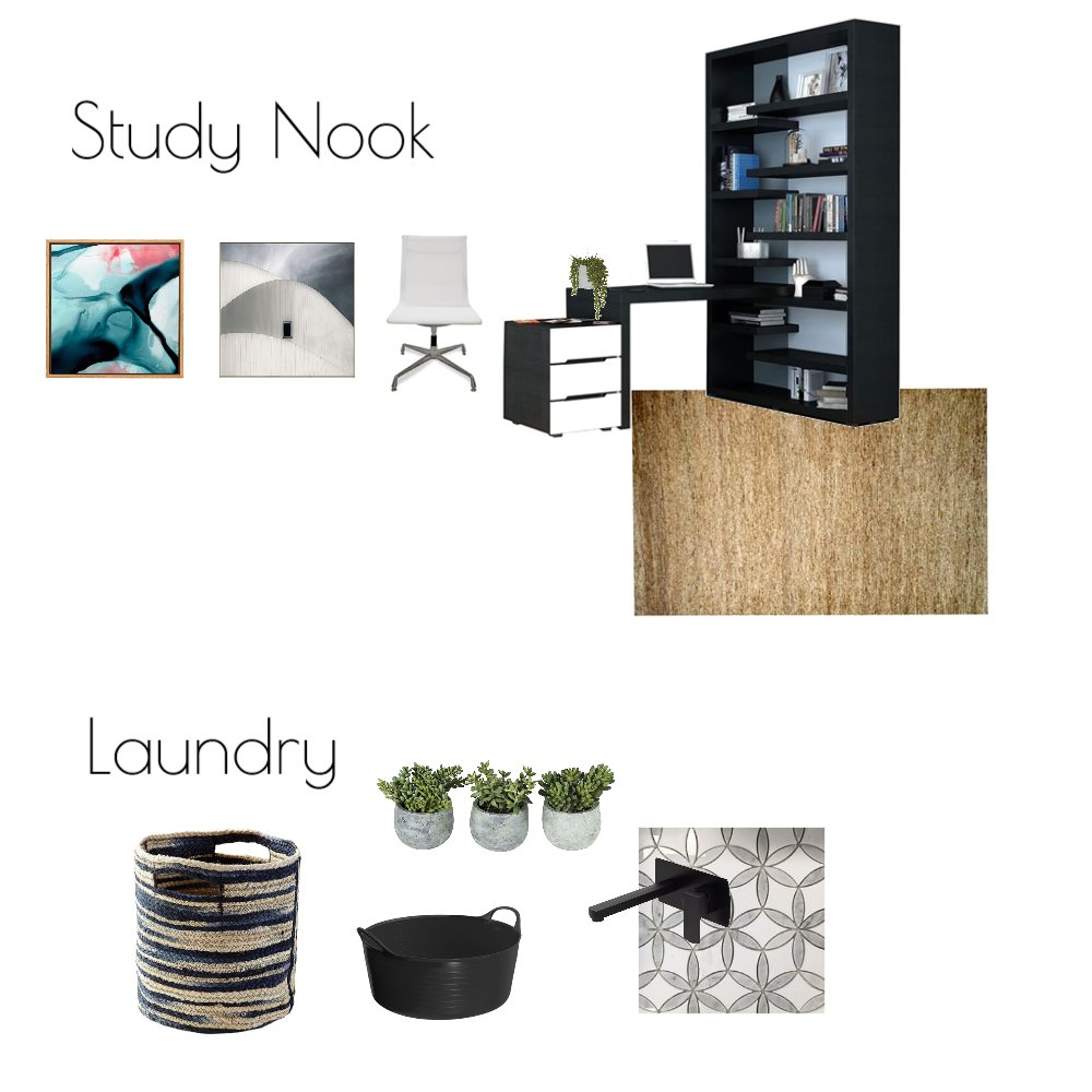 Study Nook and Laundry Mood Board by Souldesignconcepts on Style Sourcebook