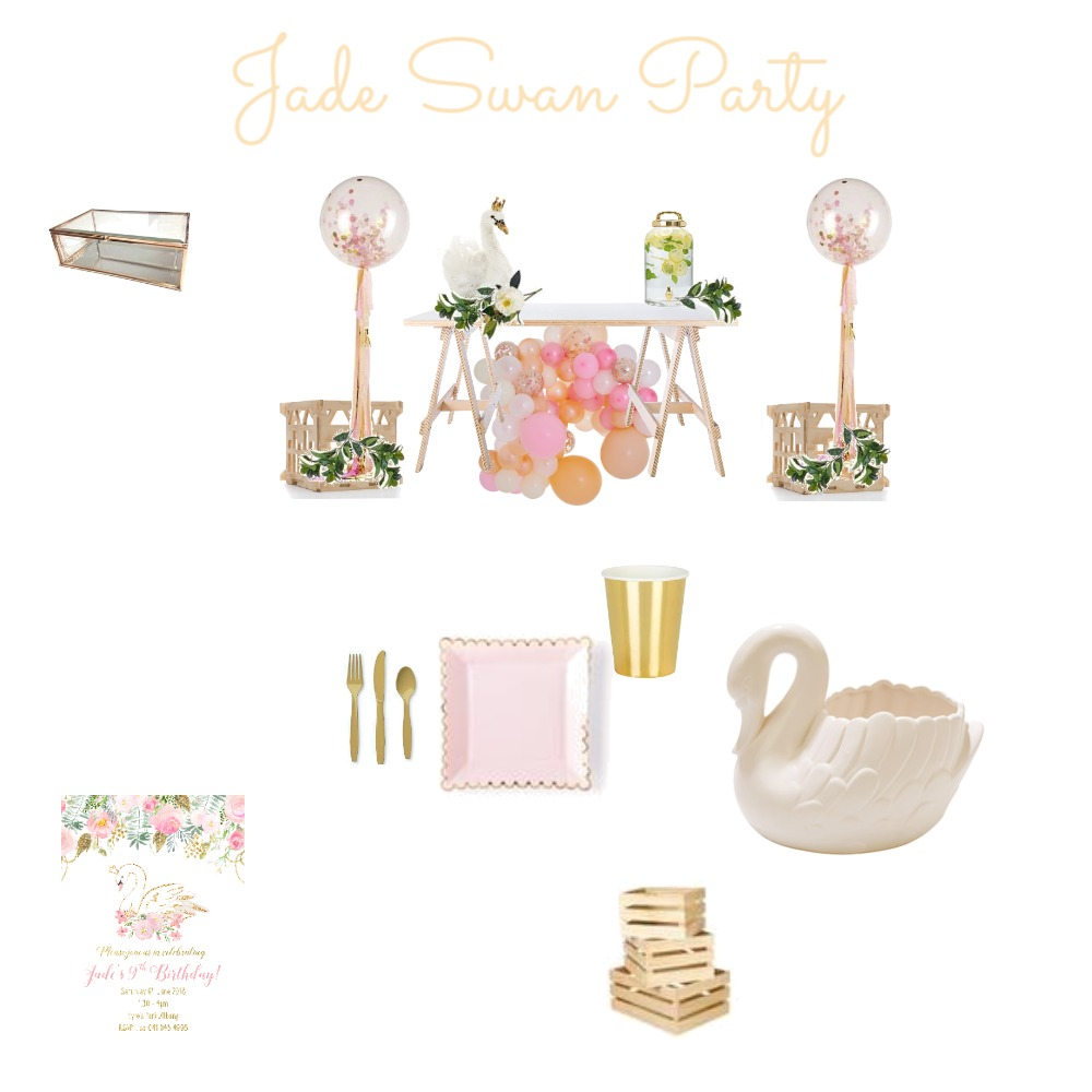 Jade Swan Party Mood Board by Gotstyle on Style Sourcebook