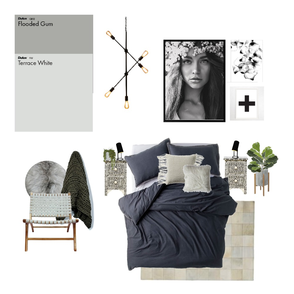 Monochrome Scandi Mood Board by GRACE LANGLEY INTERIORS on Style Sourcebook