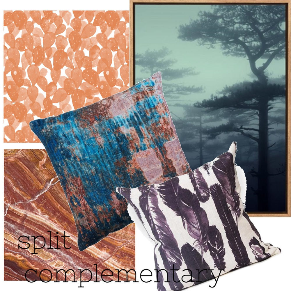 split compl Mood Board by PamWhit on Style Sourcebook