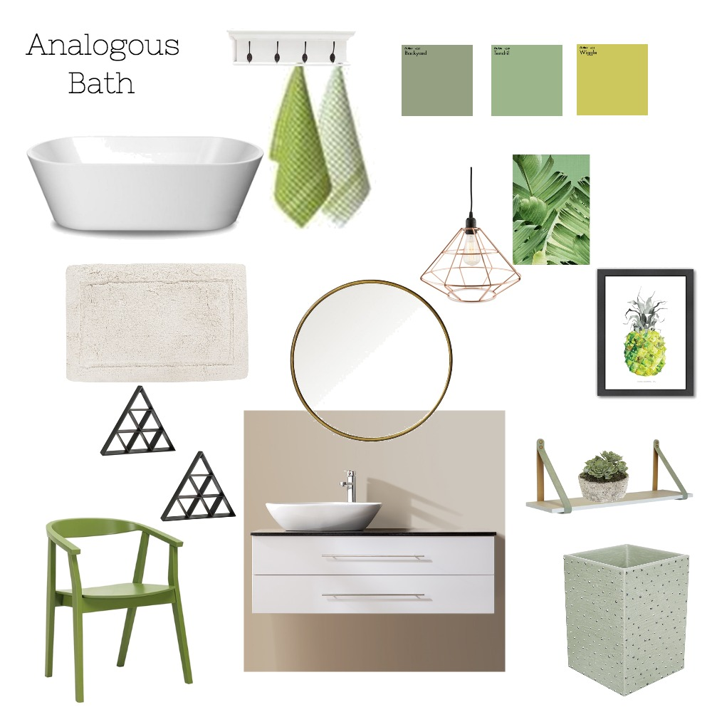Analagous Bath Mood Board by Chrissysd on Style Sourcebook