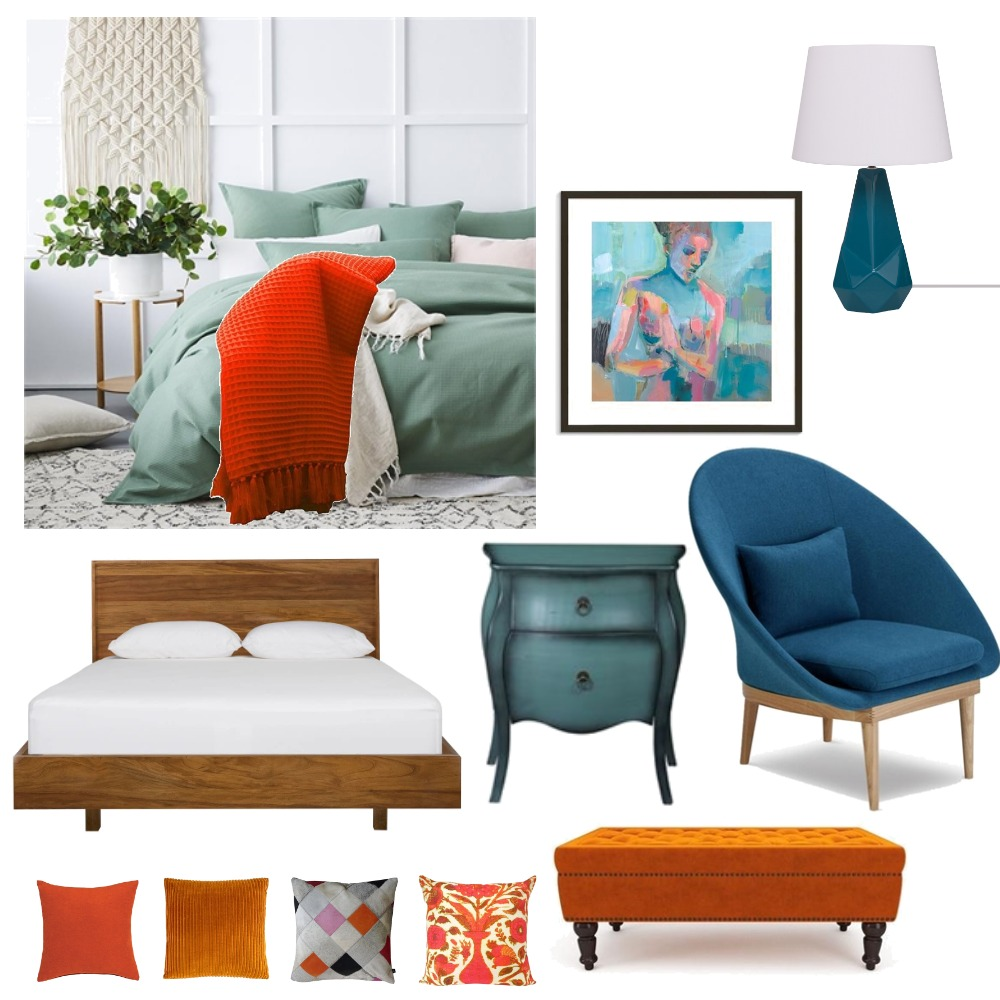 split complementary Mood Board by candra on Style Sourcebook