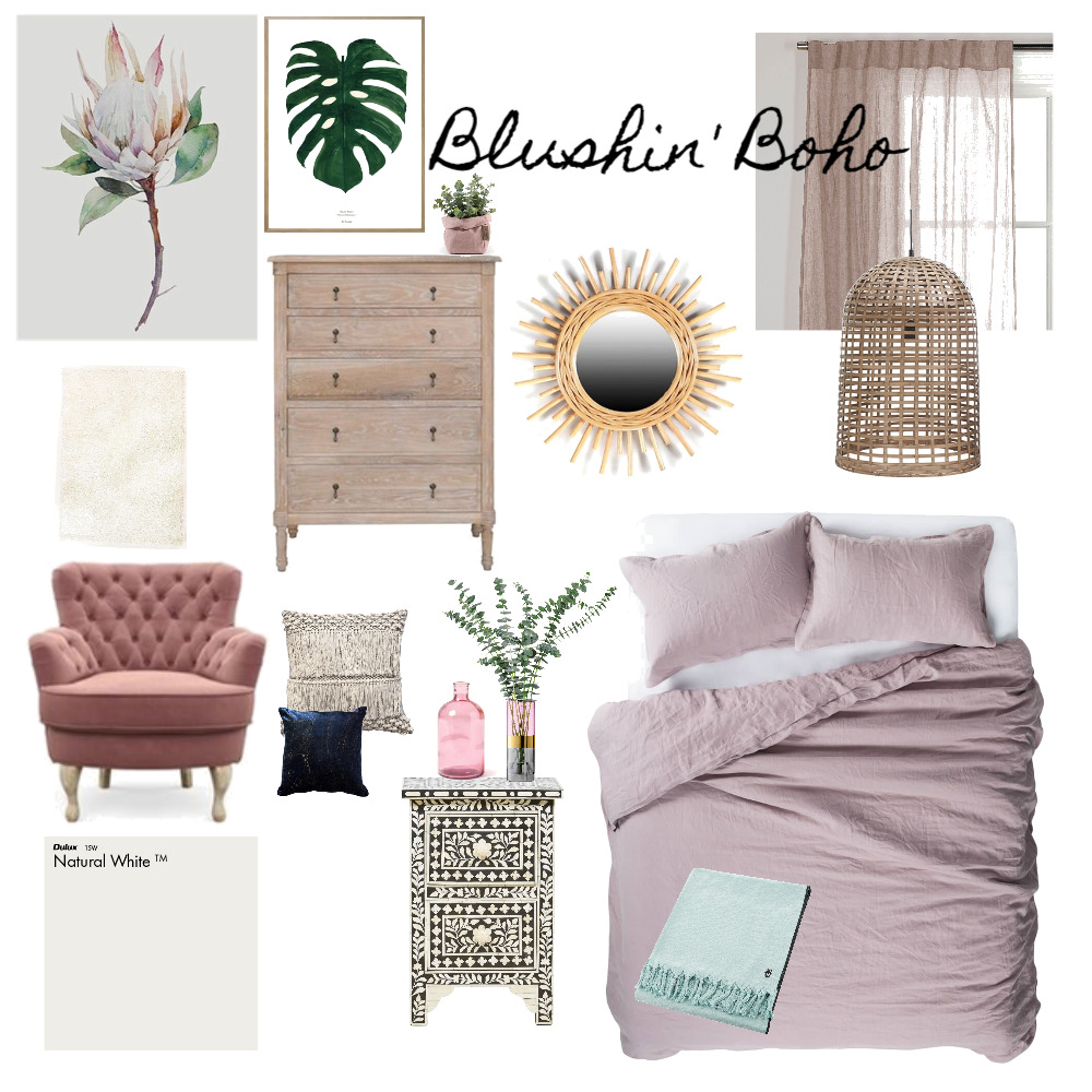 Blushin' Boho Interior Design Mood Board by rwoodbridge on Style Sourcebook