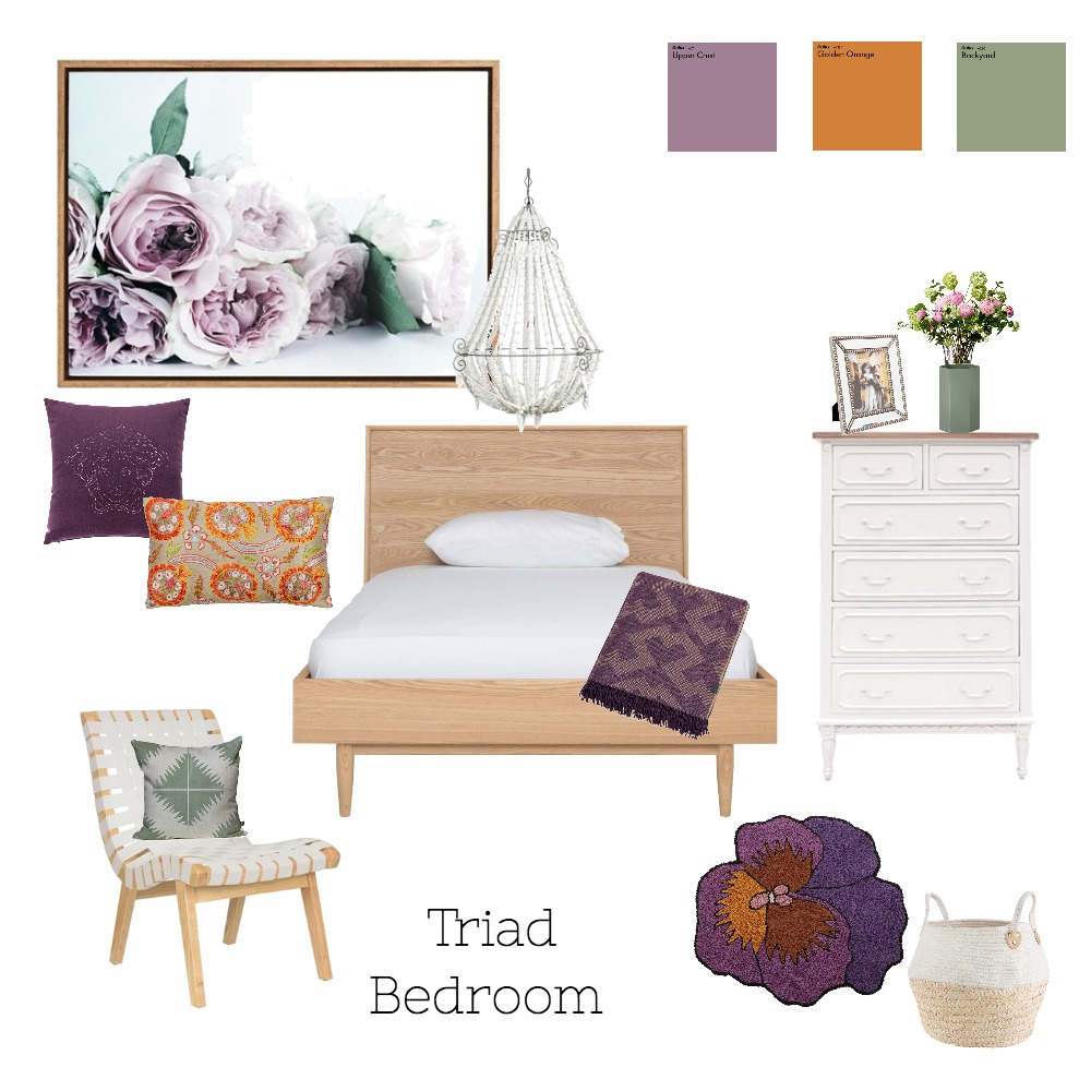 Triad Bedroom Mood Board by Chrissysd on Style Sourcebook