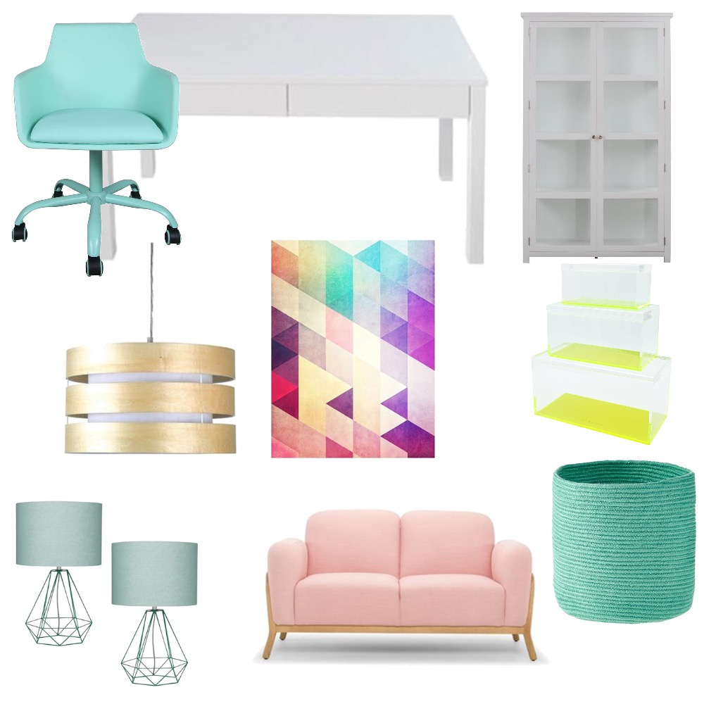 Funky office Interior Design Mood Board by 360 degrees interior design on Style Sourcebook