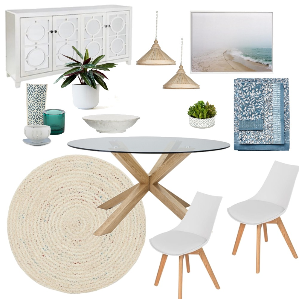 Coastal Dining Mood Board by lacarlisle on Style Sourcebook