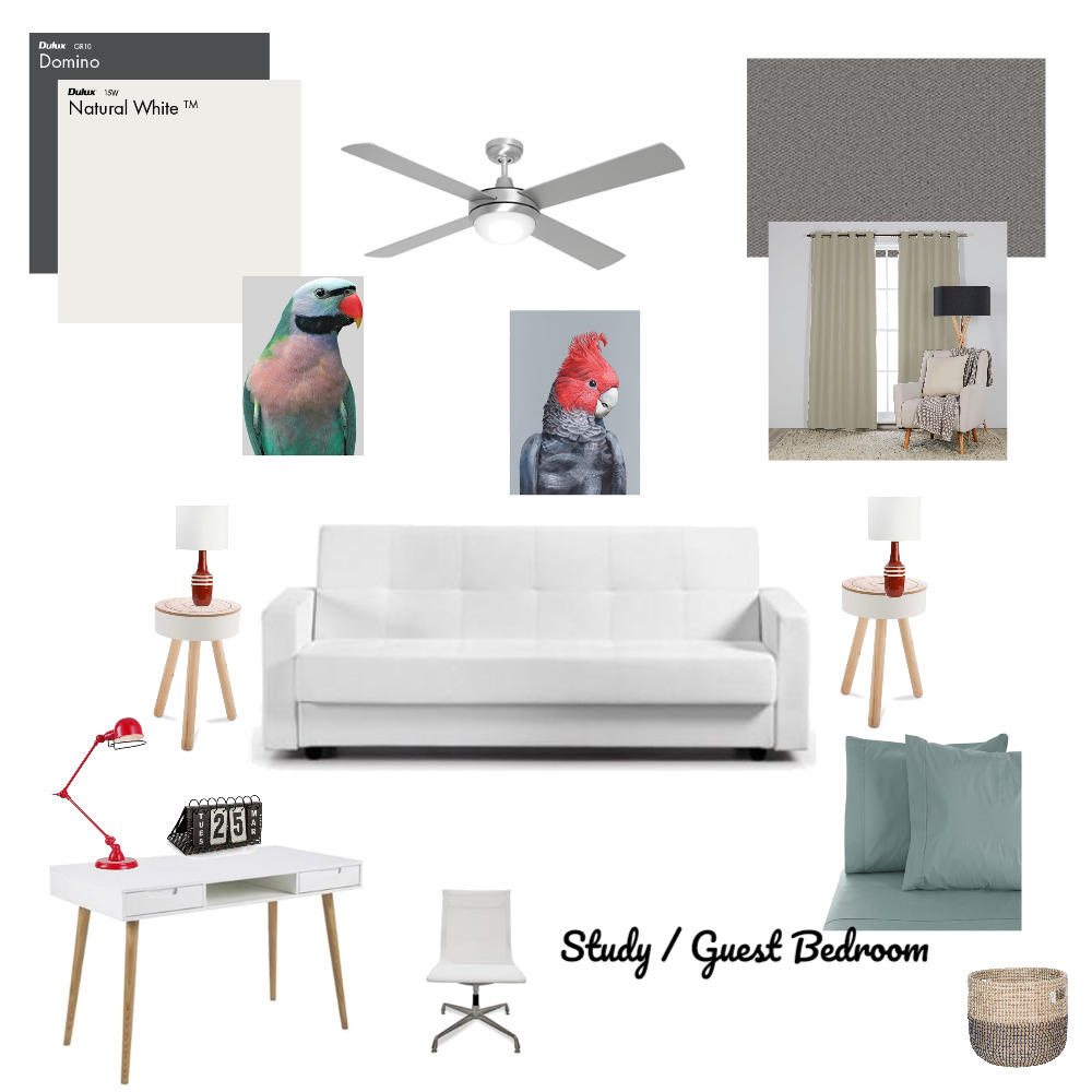 study / guest bedroom Mood Board by anja on Style Sourcebook