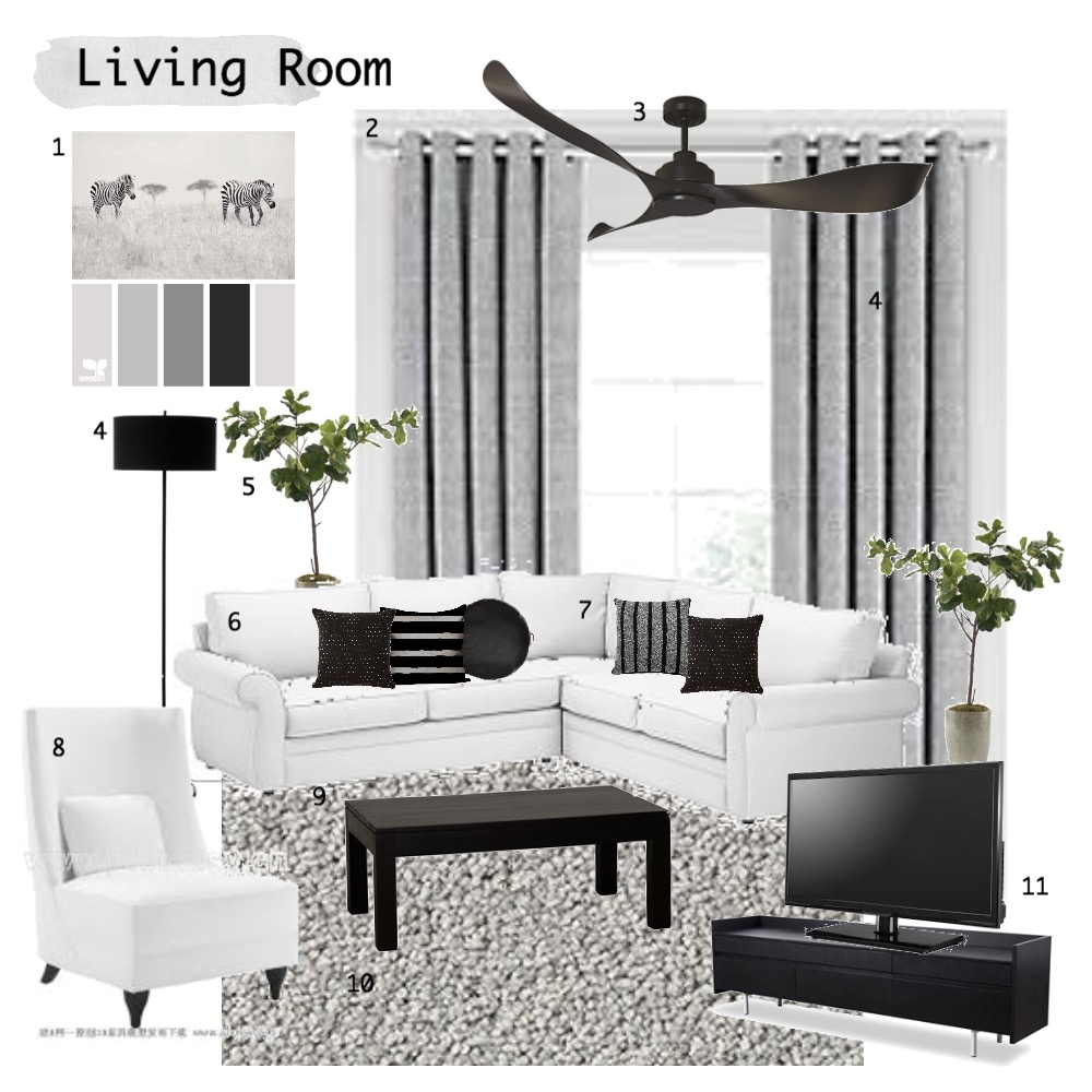 Living Room Mood Board by charmsdanielle on Style Sourcebook