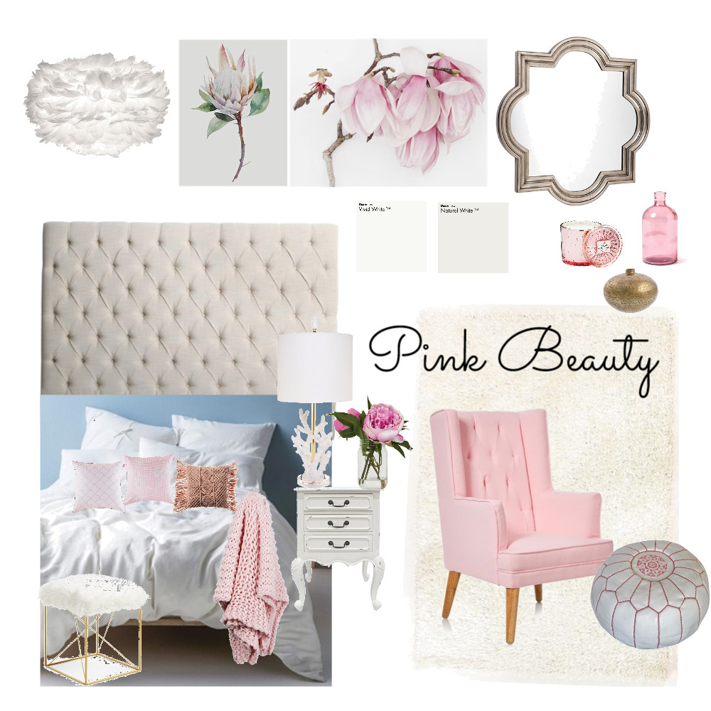 Pink Beauty Interior Design Mood Board by rwoodbridge on Style Sourcebook