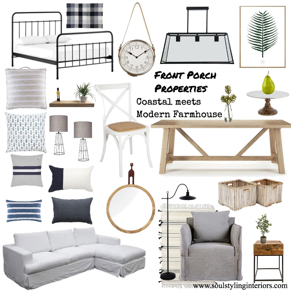 Client, Front Porch Properties - Farmhouse meets Coastal Mood Board by Krysti-glory90 on Style Sourcebook