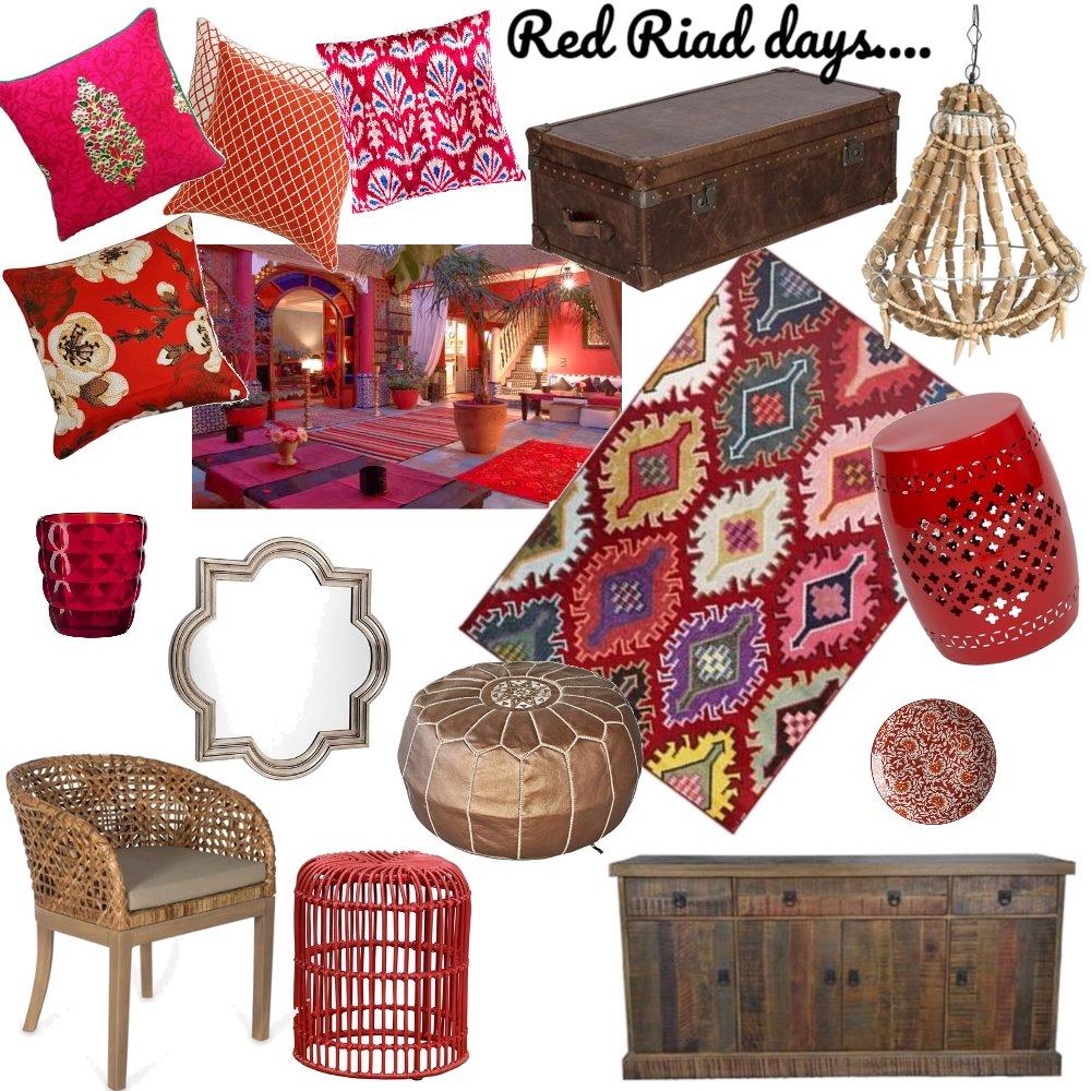 Red Riad Days Interior Design Mood Board by sam01 on Style Sourcebook