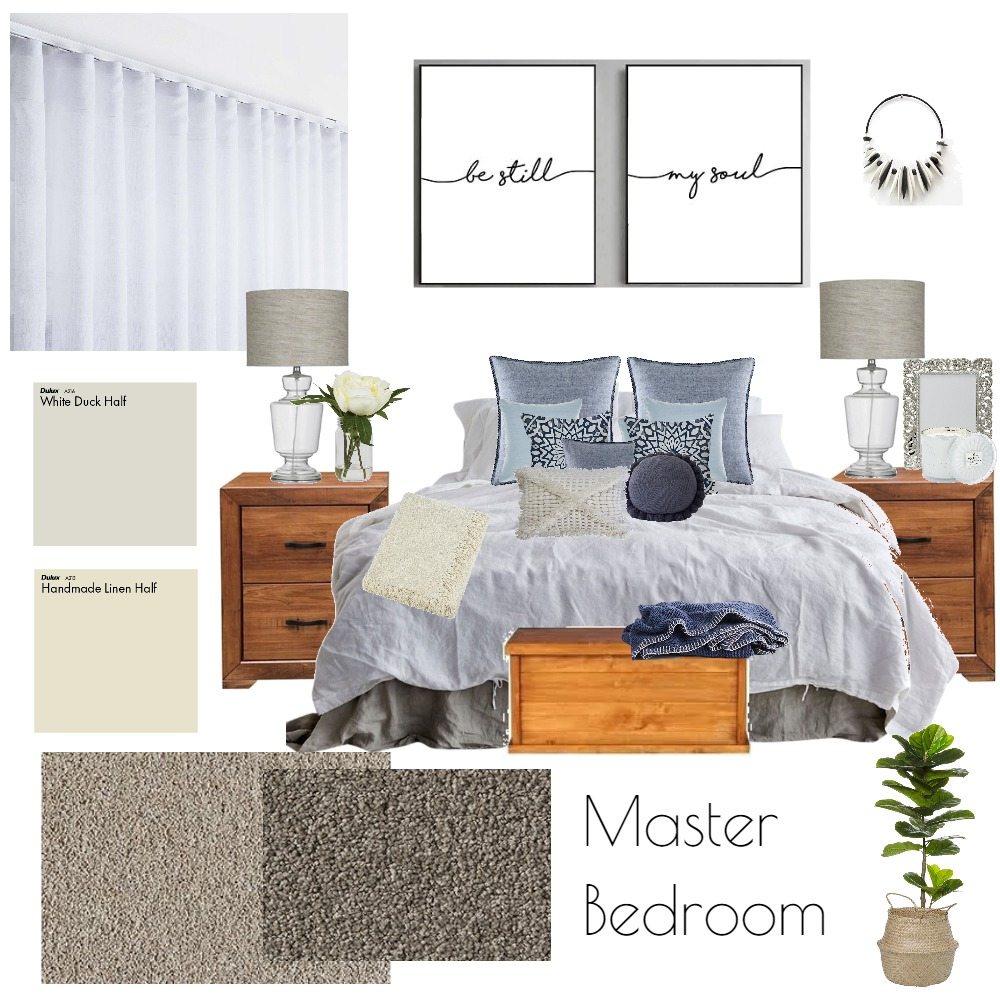 Troy and Lauren - Master Bedroom Interior Design Mood Board by tashbellhome on Style Sourcebook