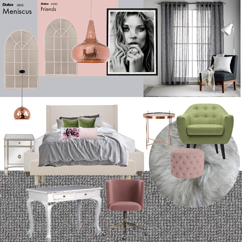 Girls Teen Bedroom 2 Mood Board by Dreamfin Interiors on Style Sourcebook
