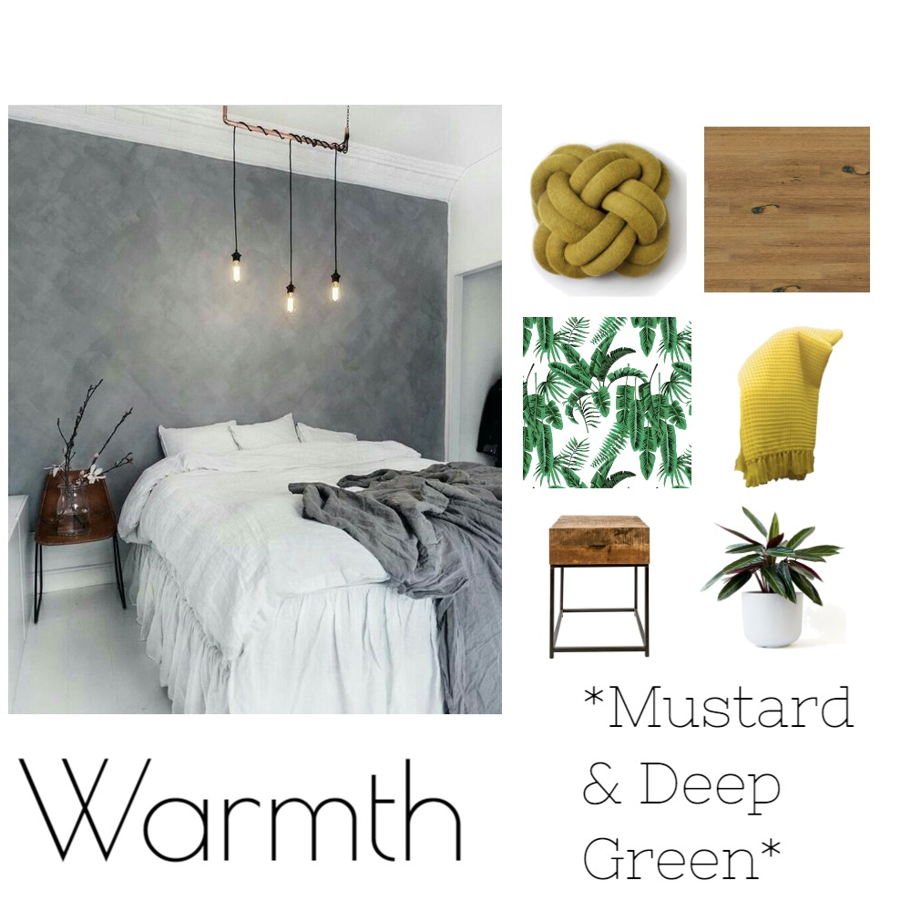 Bedroom - Warmth from a cold space Mood Board by JaimeeAitken on Style Sourcebook