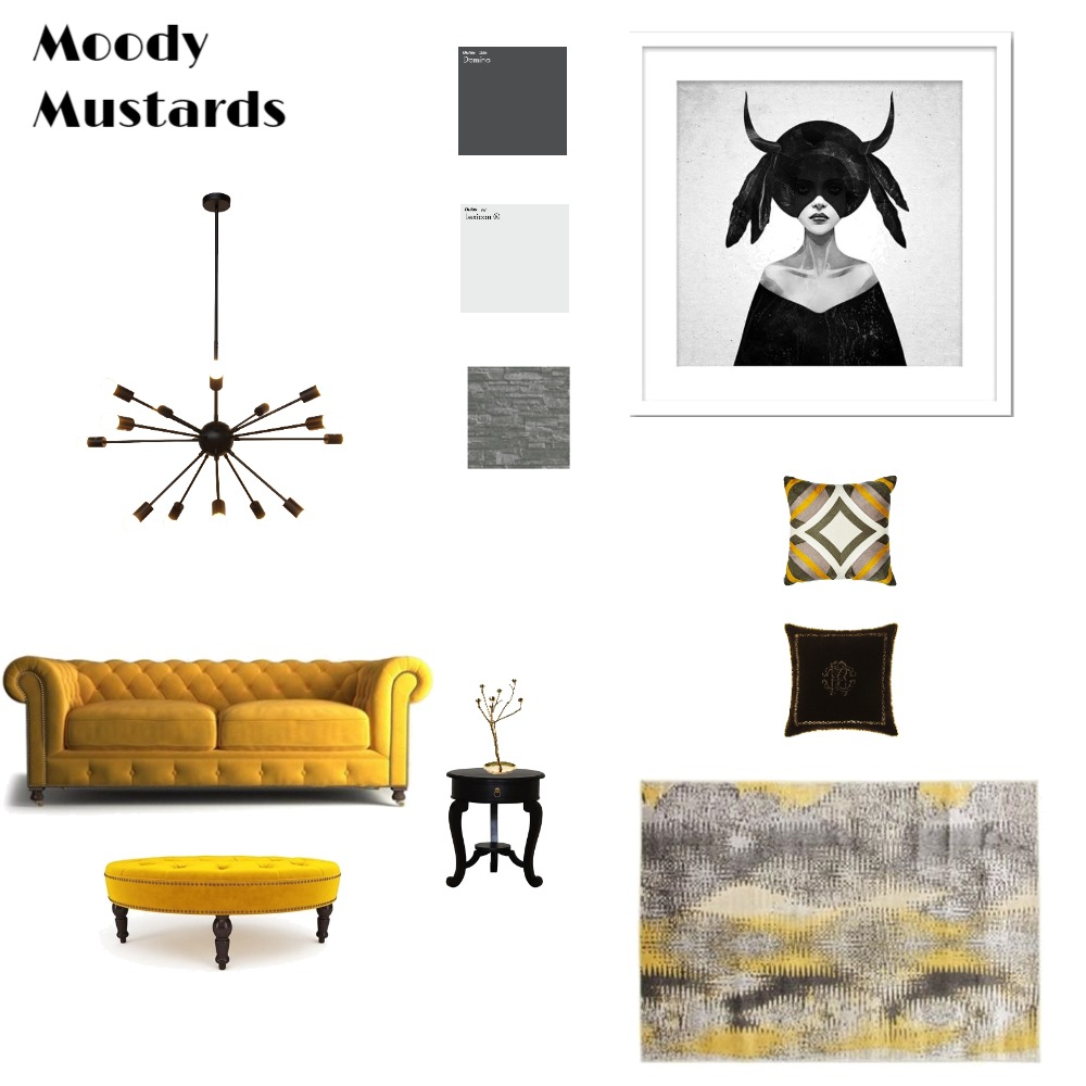 Moody Mustards Mood Board by TheNuttyStylist on Style Sourcebook