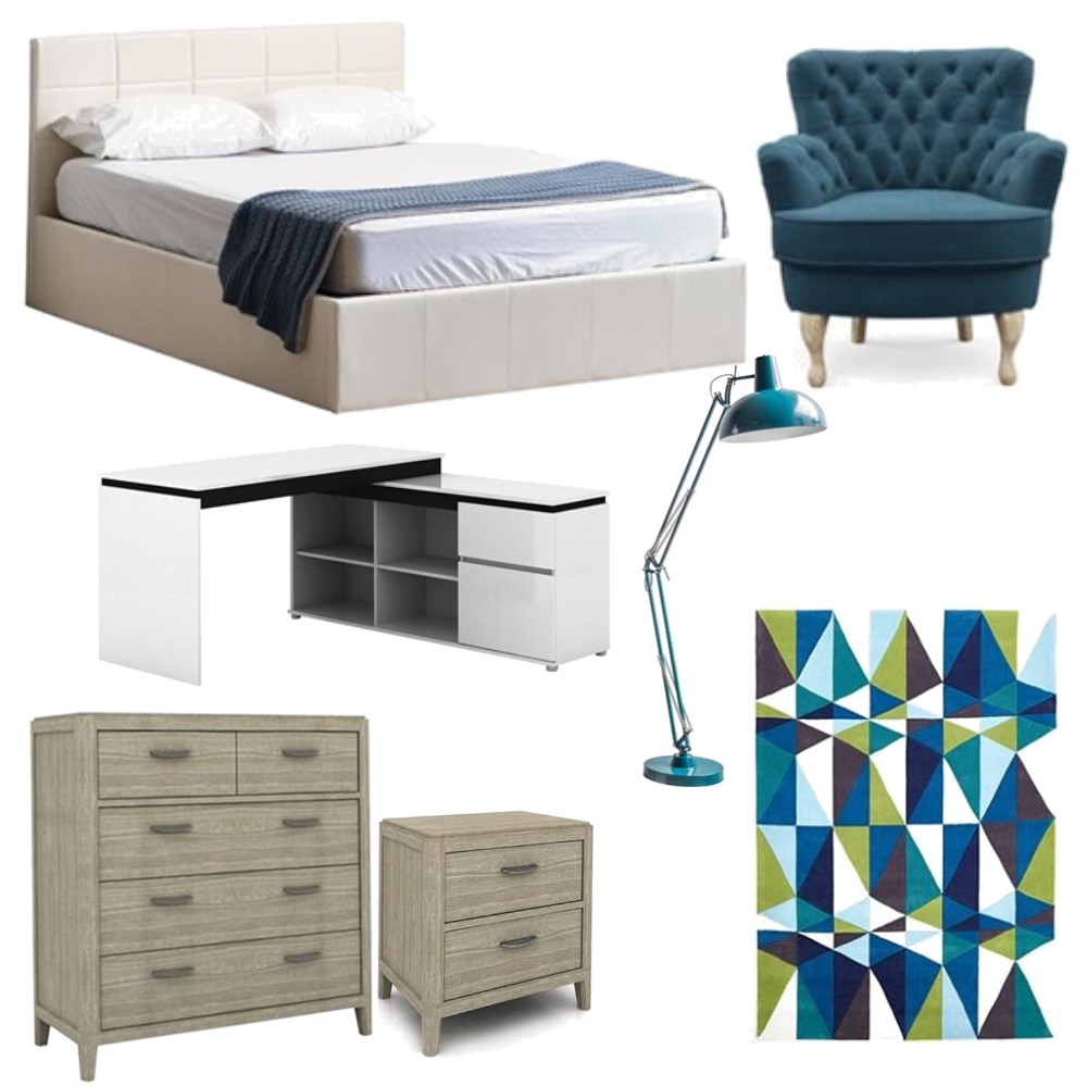 Teenage boys Bedroom Interior Design Mood Board by 360 degrees interior design on Style Sourcebook