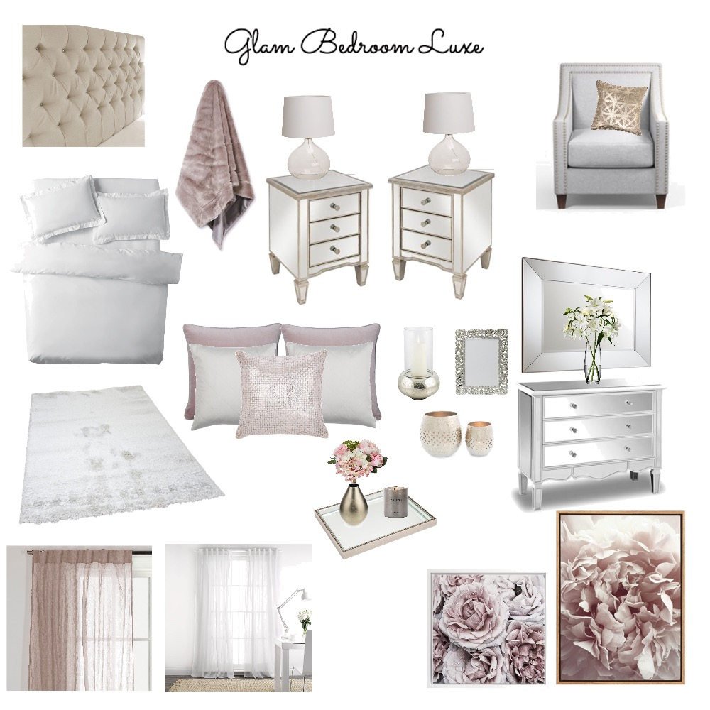 Glam Bedroom Luxe Interior Design Mood Board by Kimberley689 on Style Sourcebook