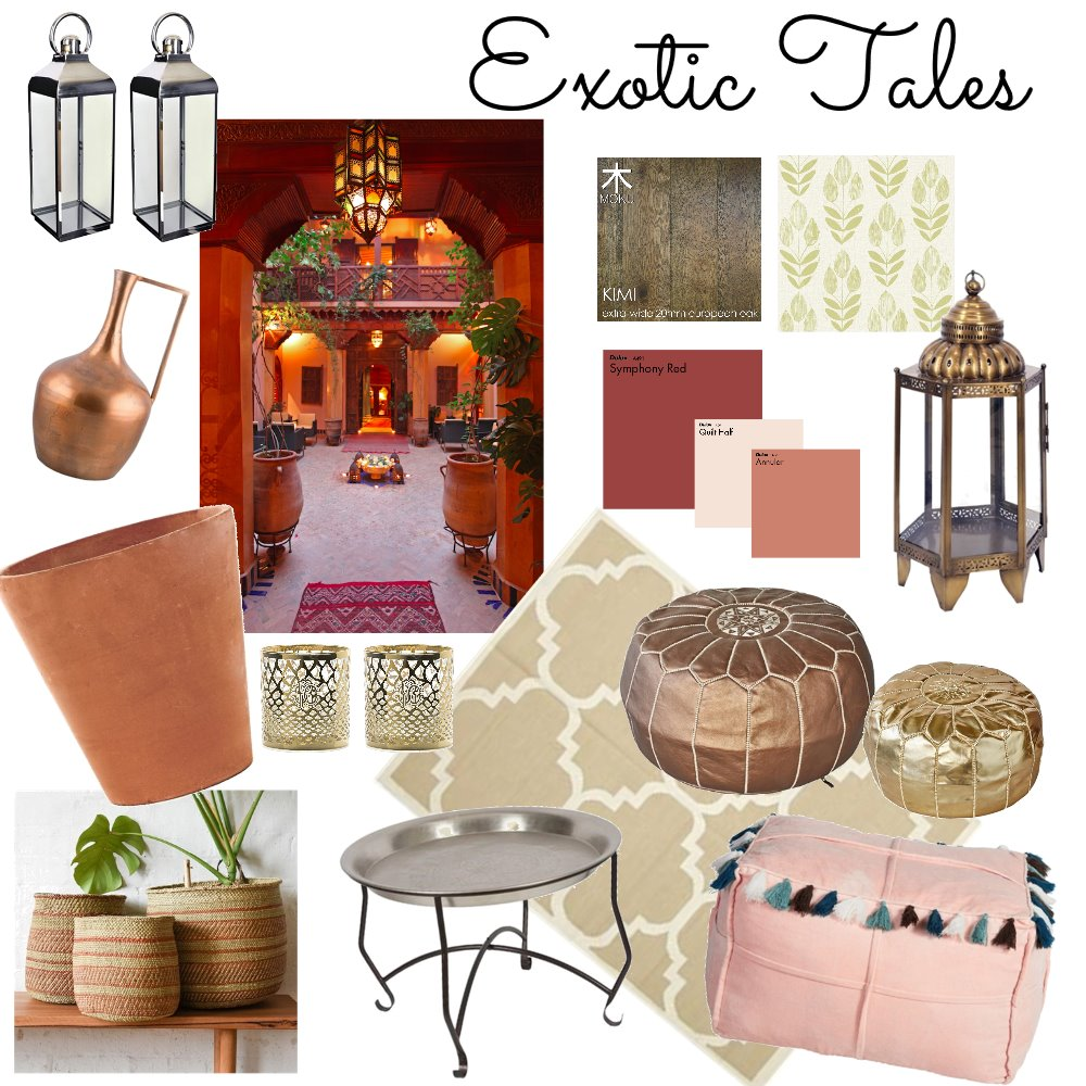 Exotic Tales Interior Design Mood Board by sam01 on Style Sourcebook