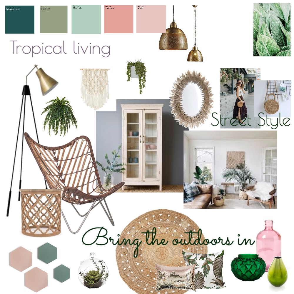 Tropical living Mood Board by vanessasandham on Style Sourcebook