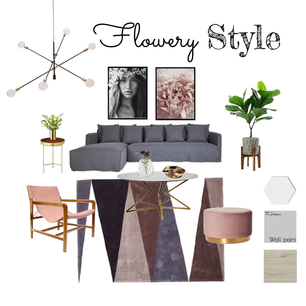 Flowery Style Mood Board by InStyle Idea on Style Sourcebook