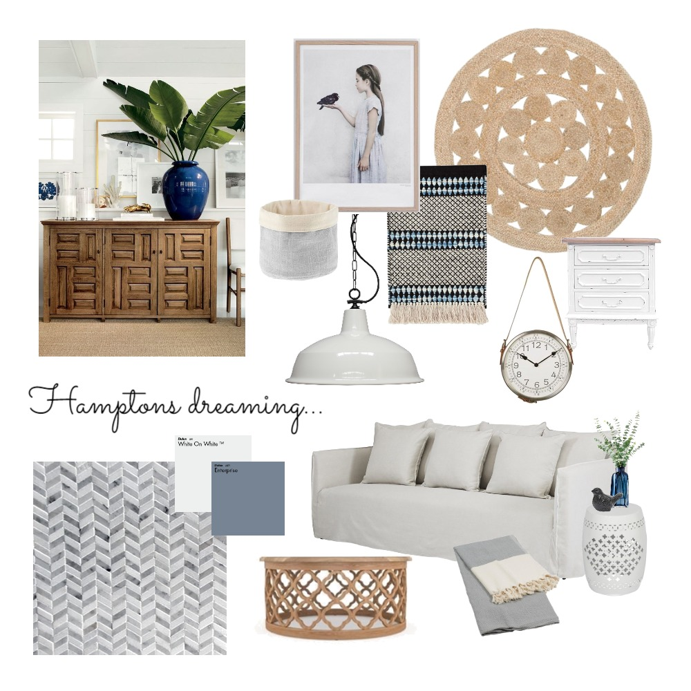 Hamptons Dreaming Mood Board by interiorsbyayla on Style Sourcebook