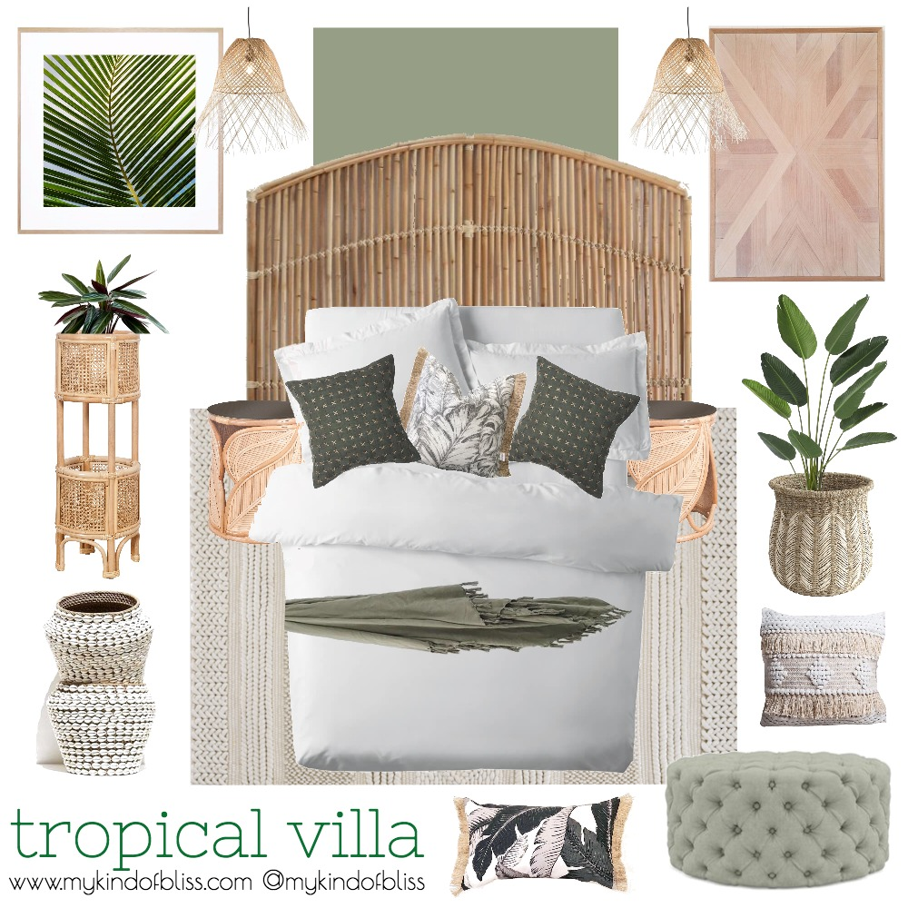 TROPICAL VILLA Mood Board by My Kind Of Bliss on Style Sourcebook