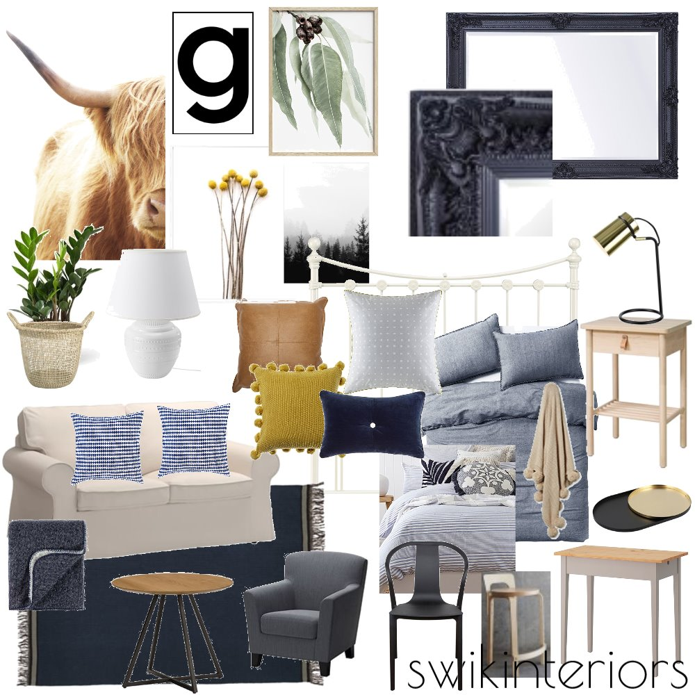 Miss G Bedroom Inspo #3 Mood Board by SWIK Interiors on Style Sourcebook
