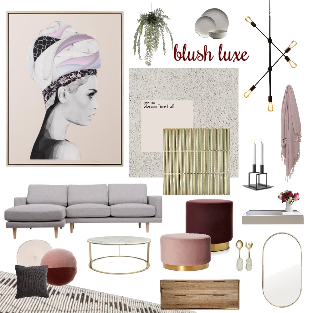 blush luxe Mood Board by Hunter Style Collective on Style Sourcebook