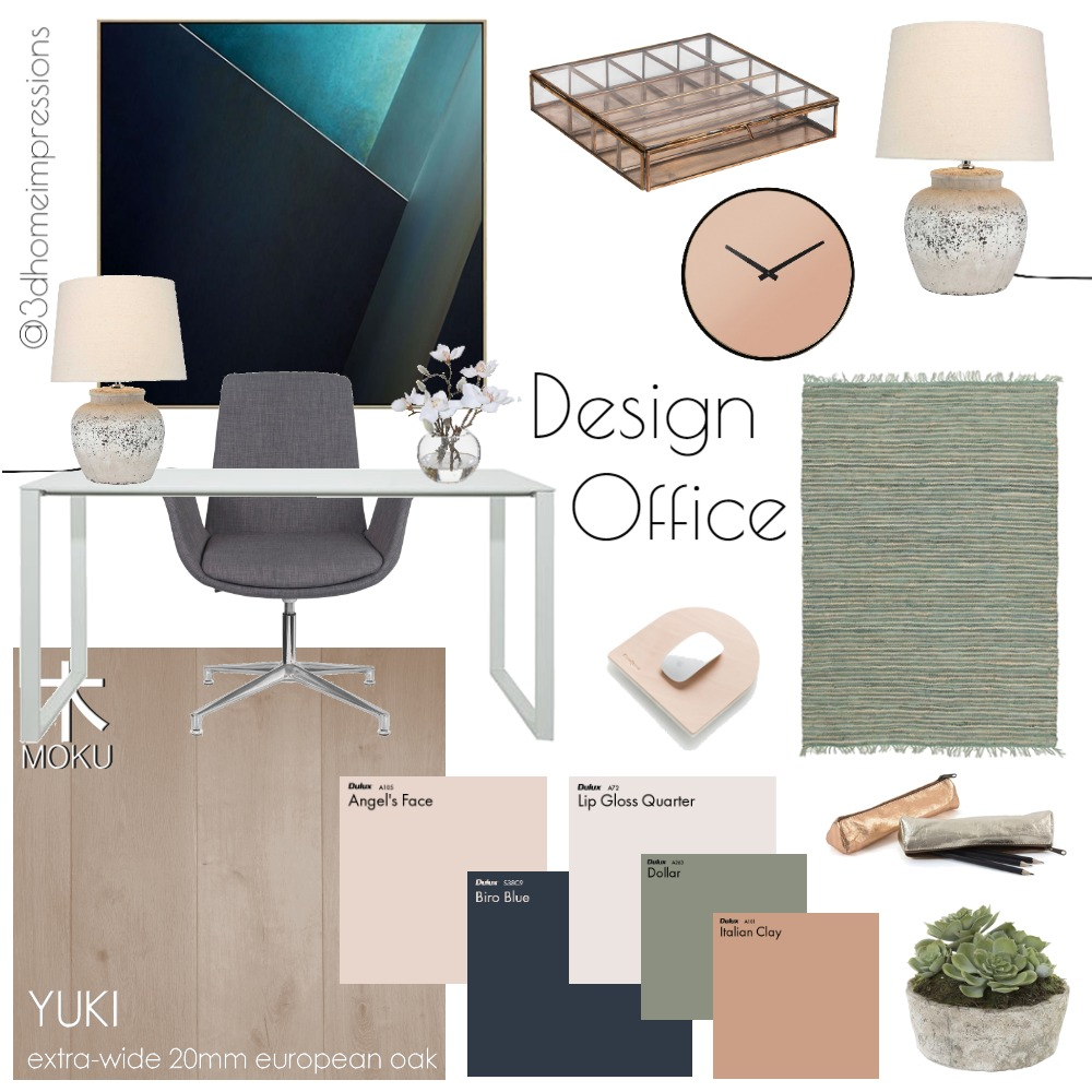 Design Office Mood Board by 3D Home Impressions on Style Sourcebook