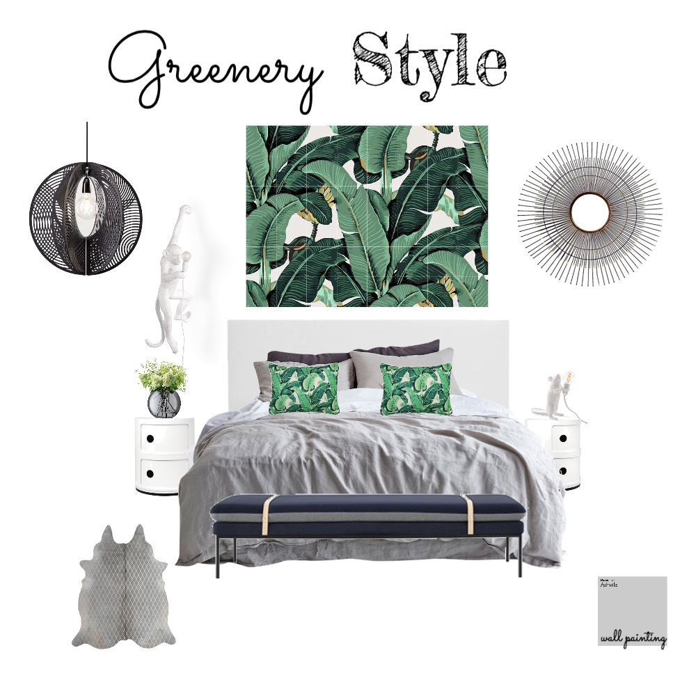 Greenery Style Interior Design Mood Board by InStyle Idea on Style Sourcebook