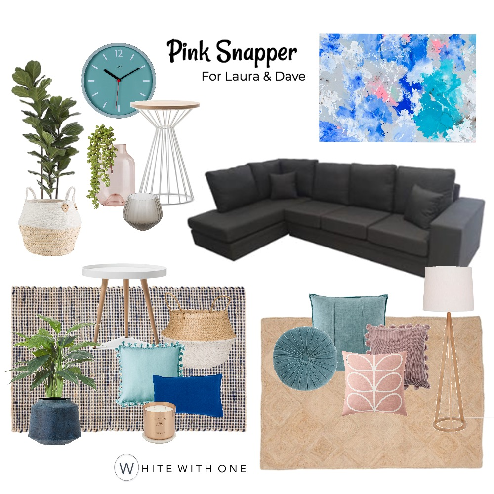 Pink Snapper Interior Design Mood Board by White With One Interior Design on Style Sourcebook