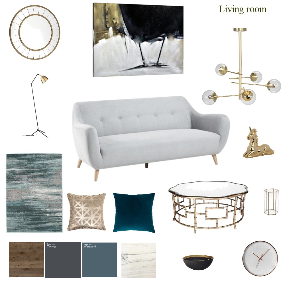 gold living room Interior Design Mood Board by daredesign on Style Sourcebook