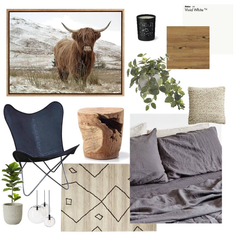 Contemporary Boho Bedroom Mood Board by danielleschmidt4 on Style Sourcebook