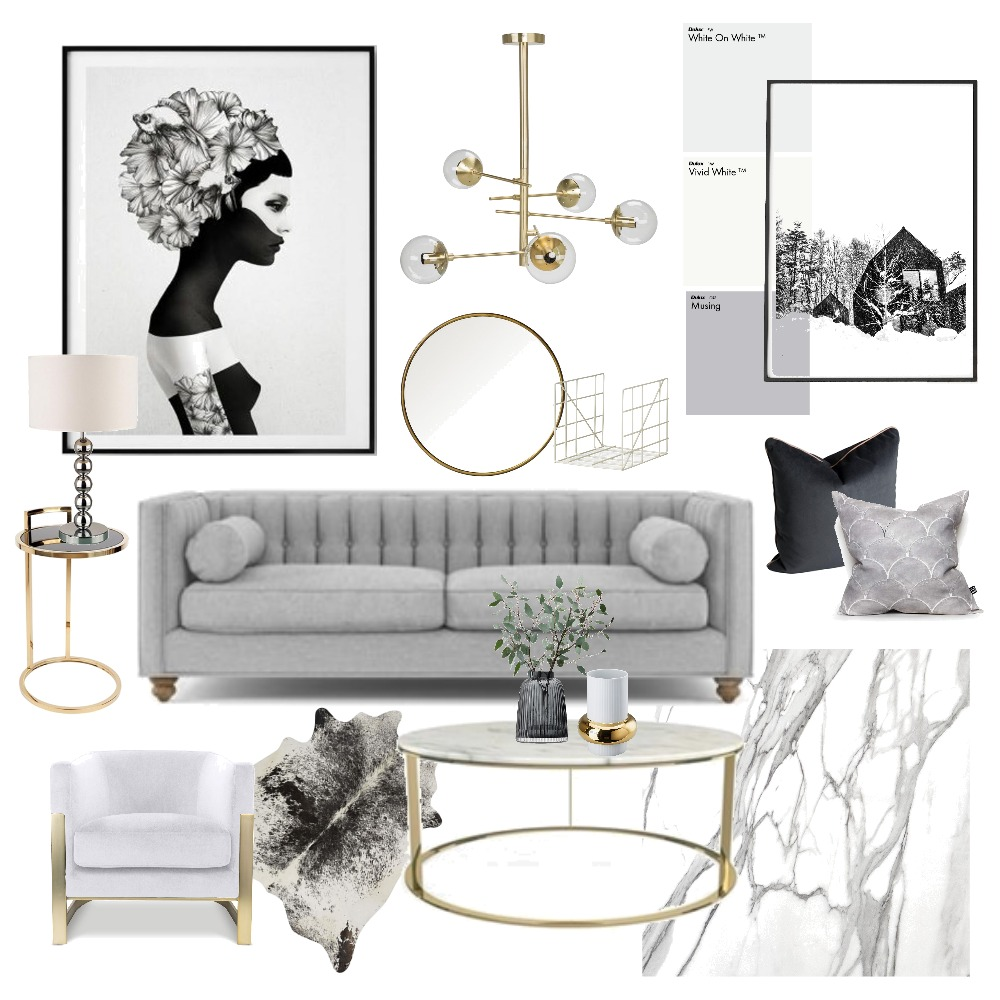 Black and golds Mood Board by Janinecam on Style Sourcebook