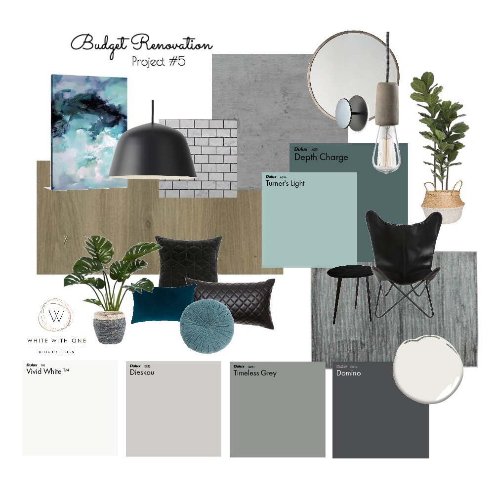 Budget Renovation Mood Board by White With One Interior Design on Style Sourcebook