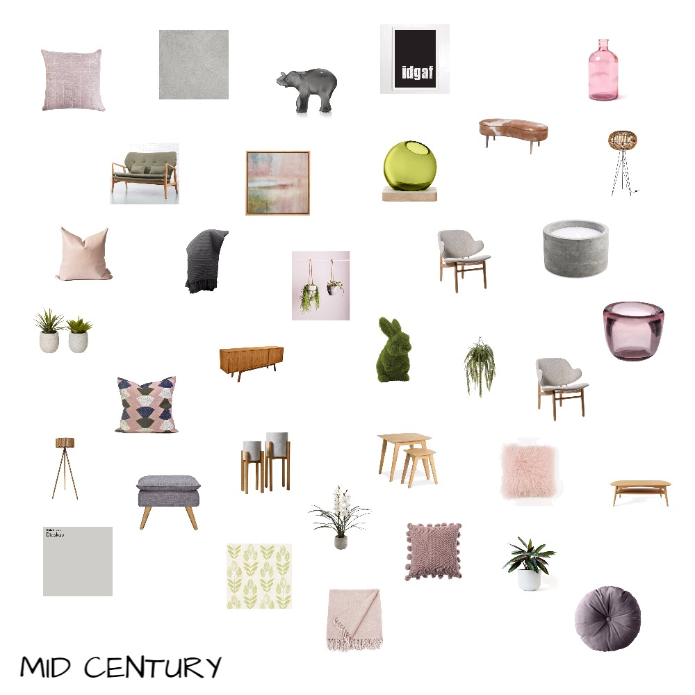 Mid Century Mood Board by Interialyse on Style Sourcebook