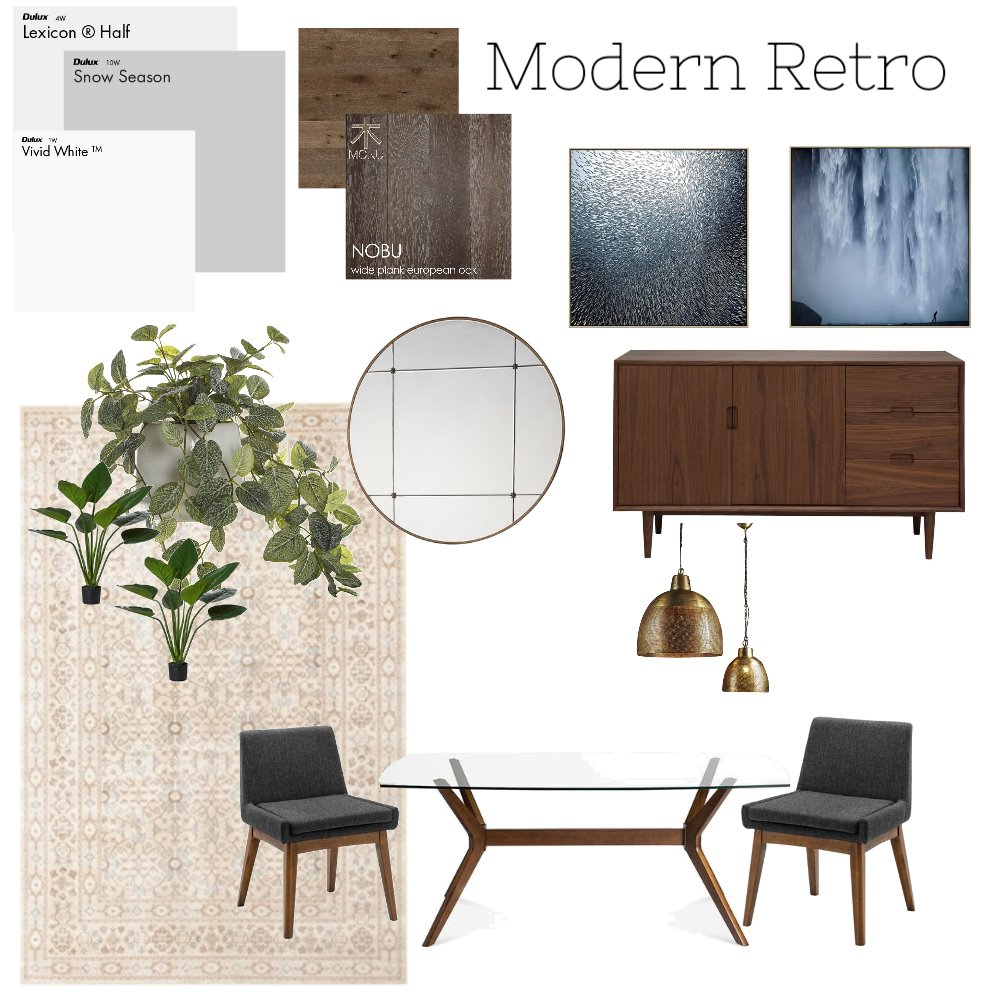 Modern Retro Dining Mood Board by Hannah94 on Style Sourcebook
