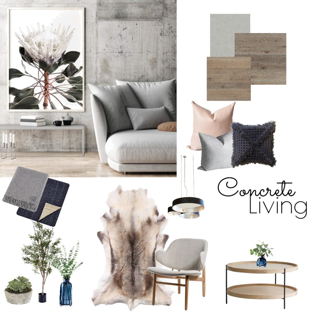 Concrete Living Mood Board by Hannah94 on Style Sourcebook