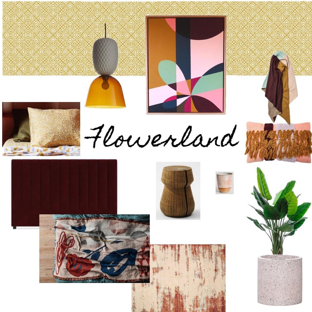 Flowerland Artwork by Anna Cole Mood Board by Interior Designstein on Style Sourcebook