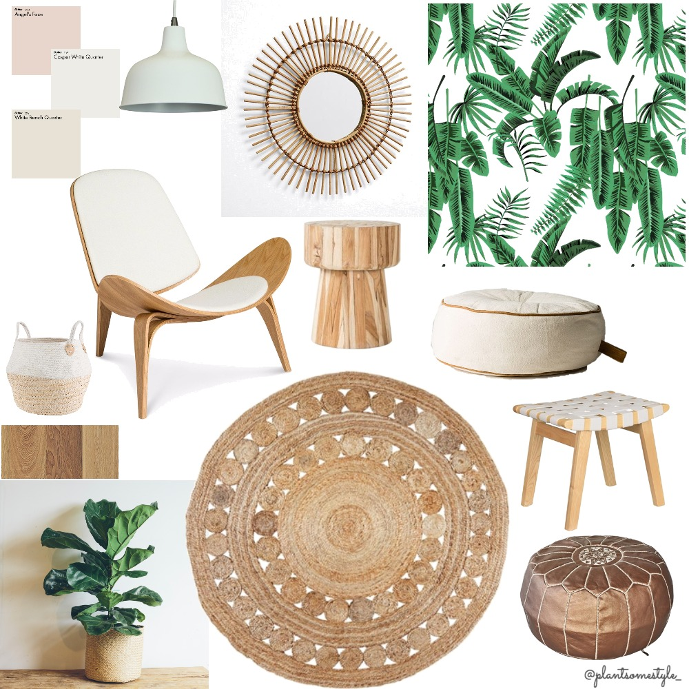 Natural Botanical Cane Mood Board by Plant some Style on Style Sourcebook
