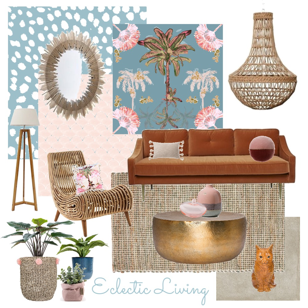 Eclectic living Mood Board by Two Wildflowers on Style Sourcebook