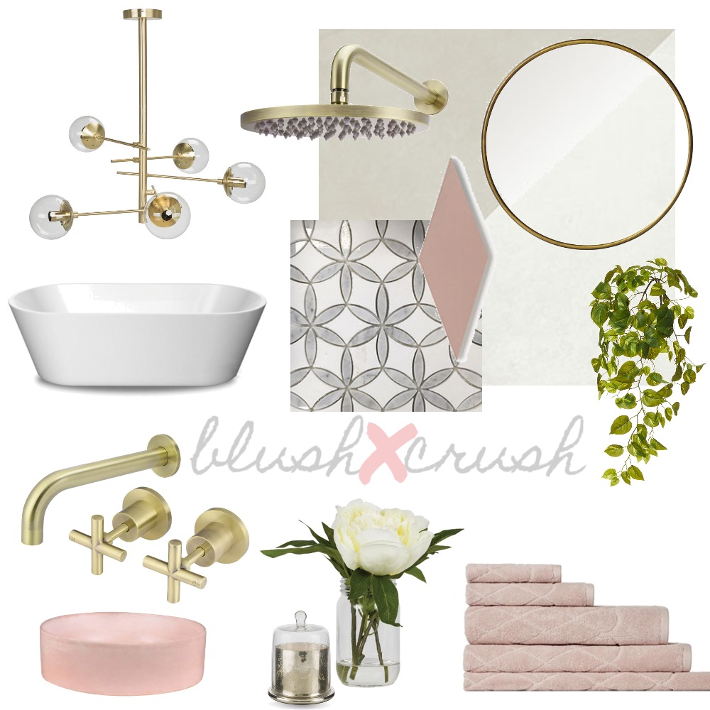 Blush Crush Interior Design Mood Board by thebohemianstylist on Style Sourcebook