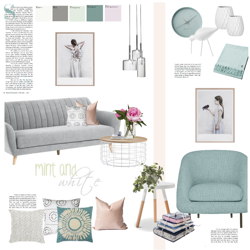 mint and white Mood Board by Magdolna Levai on Style Sourcebook