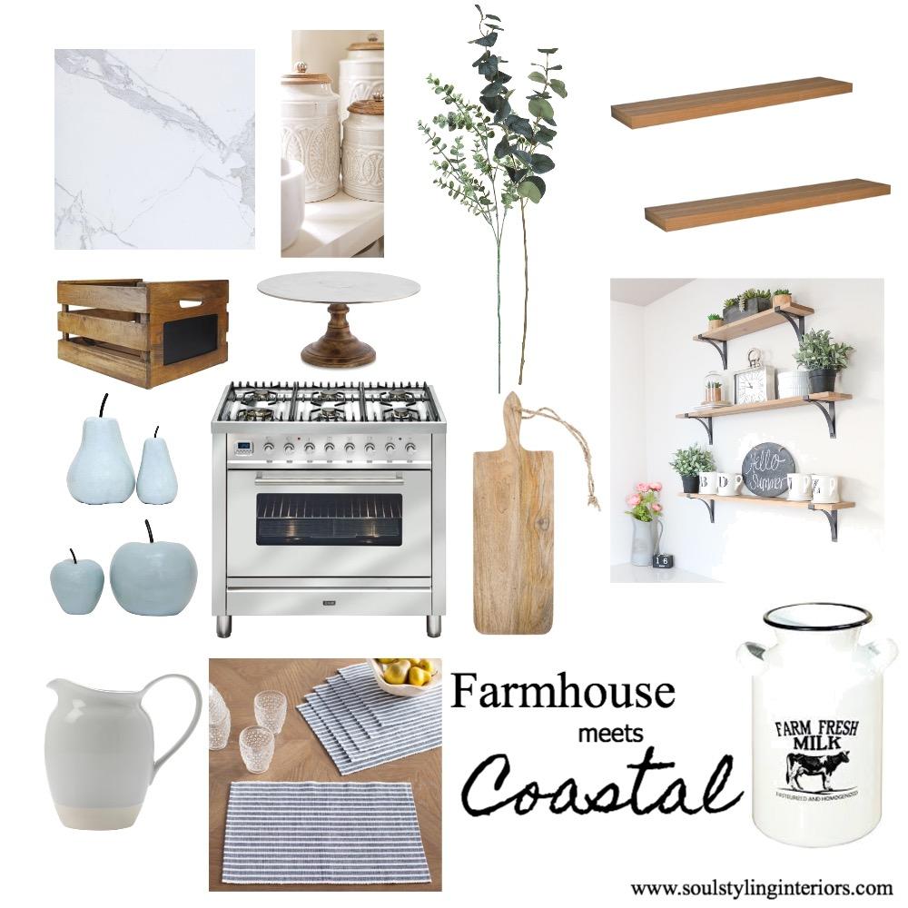 Farmhouse meets Coastal Kitchen Interior Design Mood Board by Krysti-glory90 on Style Sourcebook