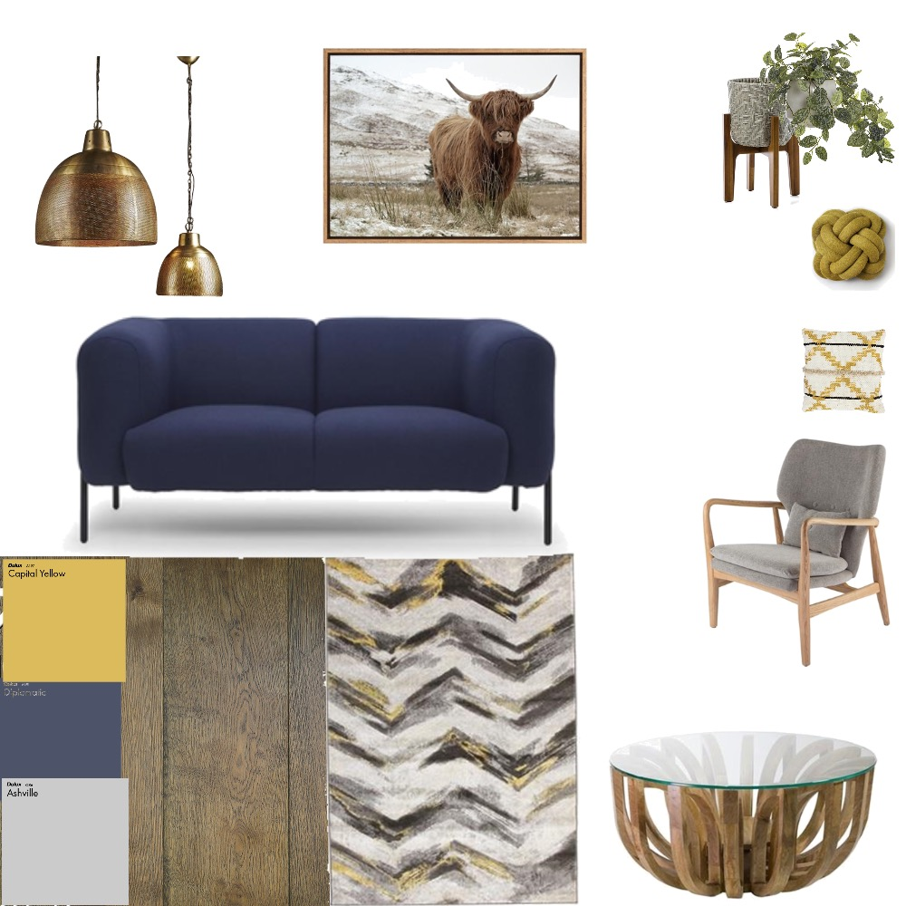 Modern Rustic living room Mood Board by Third Layer Interiors  on Style Sourcebook