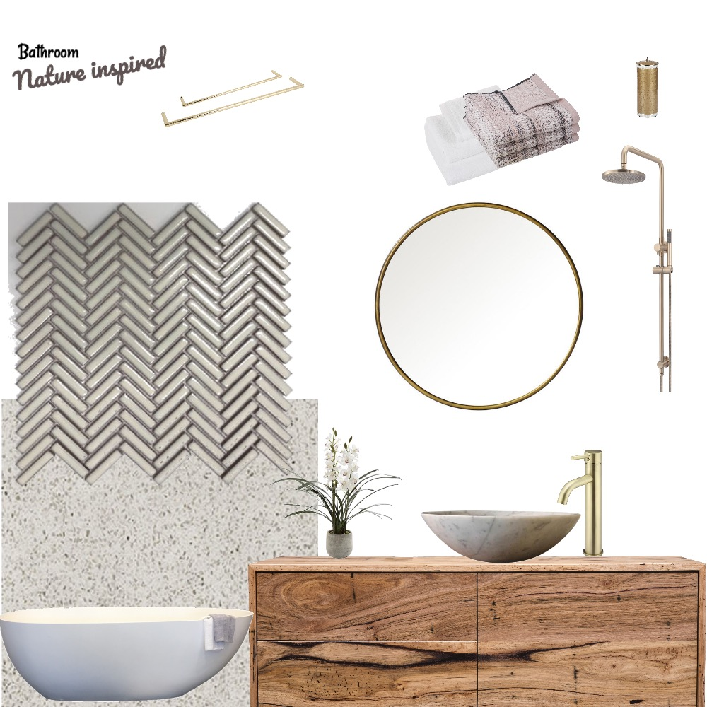 Nature inspired bathroom Mood Board by Third Layer Interiors  on Style Sourcebook